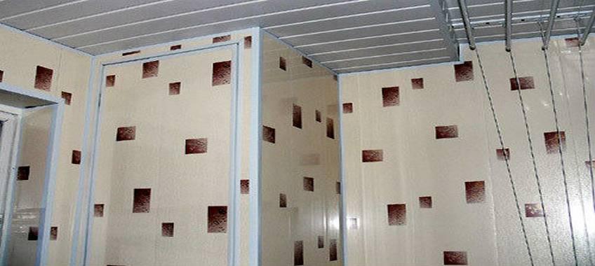 Отделка стен и монтаж панелей ПВХ в ванной